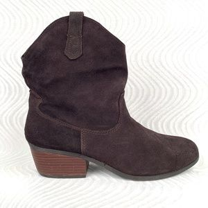 White Mountain Suede Leather Booties 11